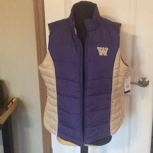 New UW Huskies Puffy Vest Official Gear Size Xl